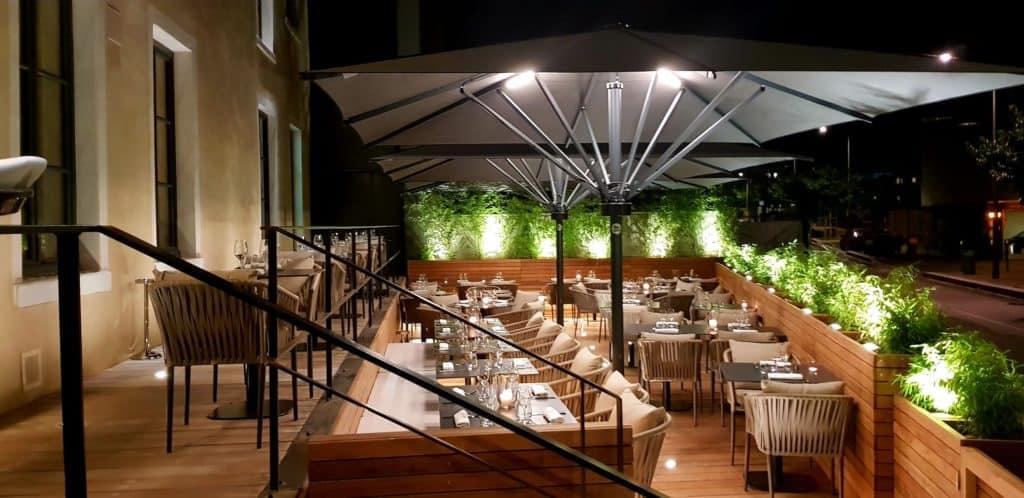 La terrasse du restaurant l'Octave à Vaise