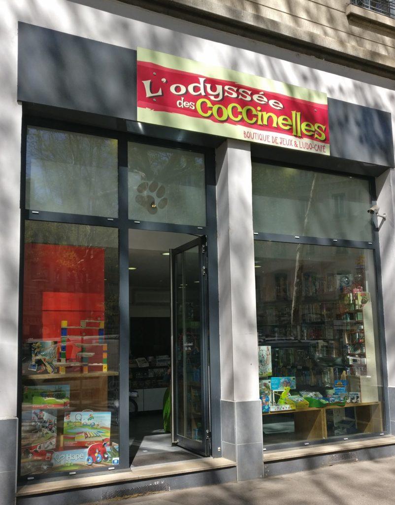 L'Odyssée des Coccinelles : Boutique de jeux à Lyon dans le quartier de Vaise