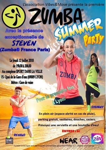 flyer-1 Participez aux premières  Zumba®️ Summer Party à Vaise