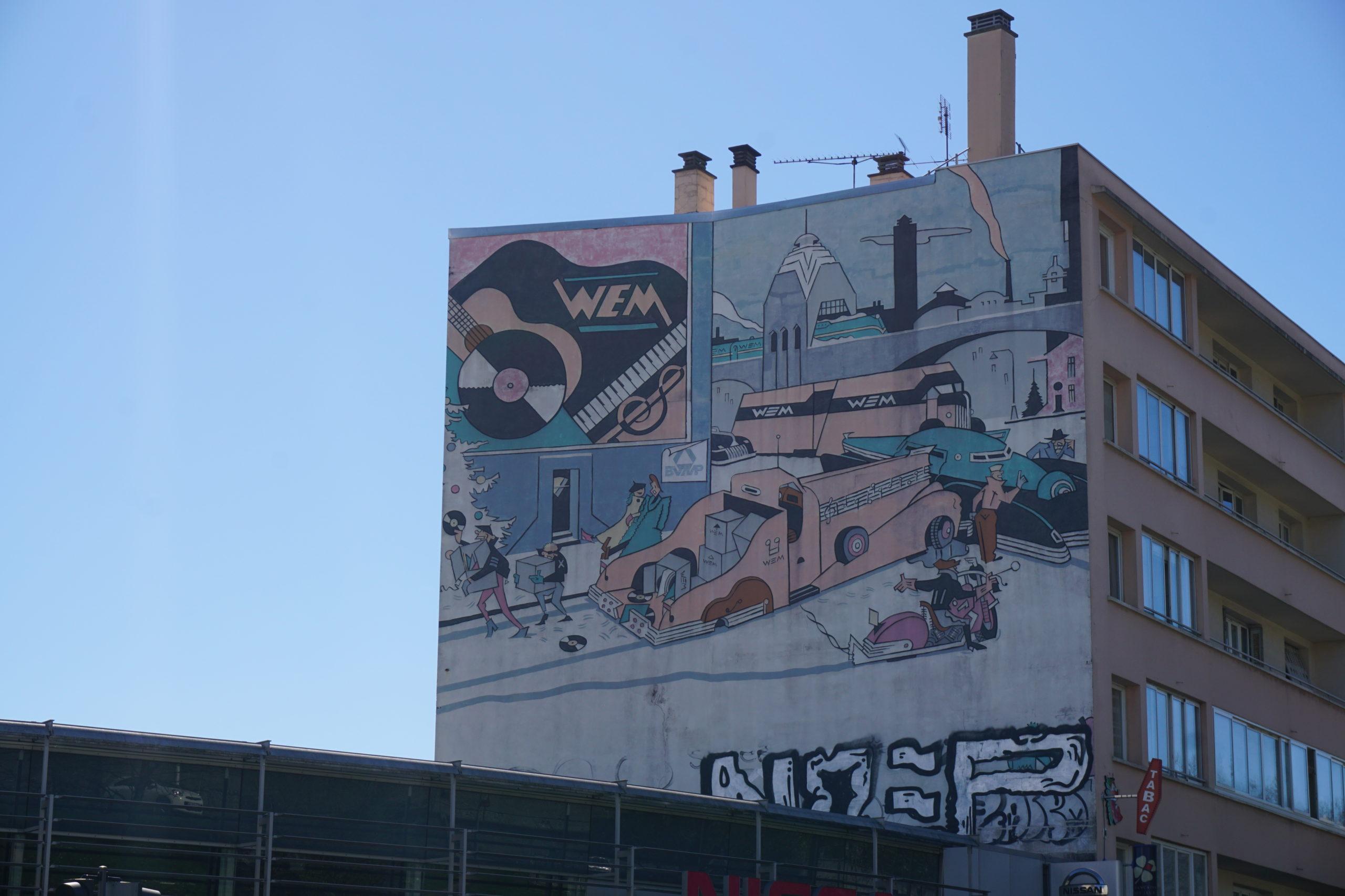 La camionnette fresque murale Lyon 9