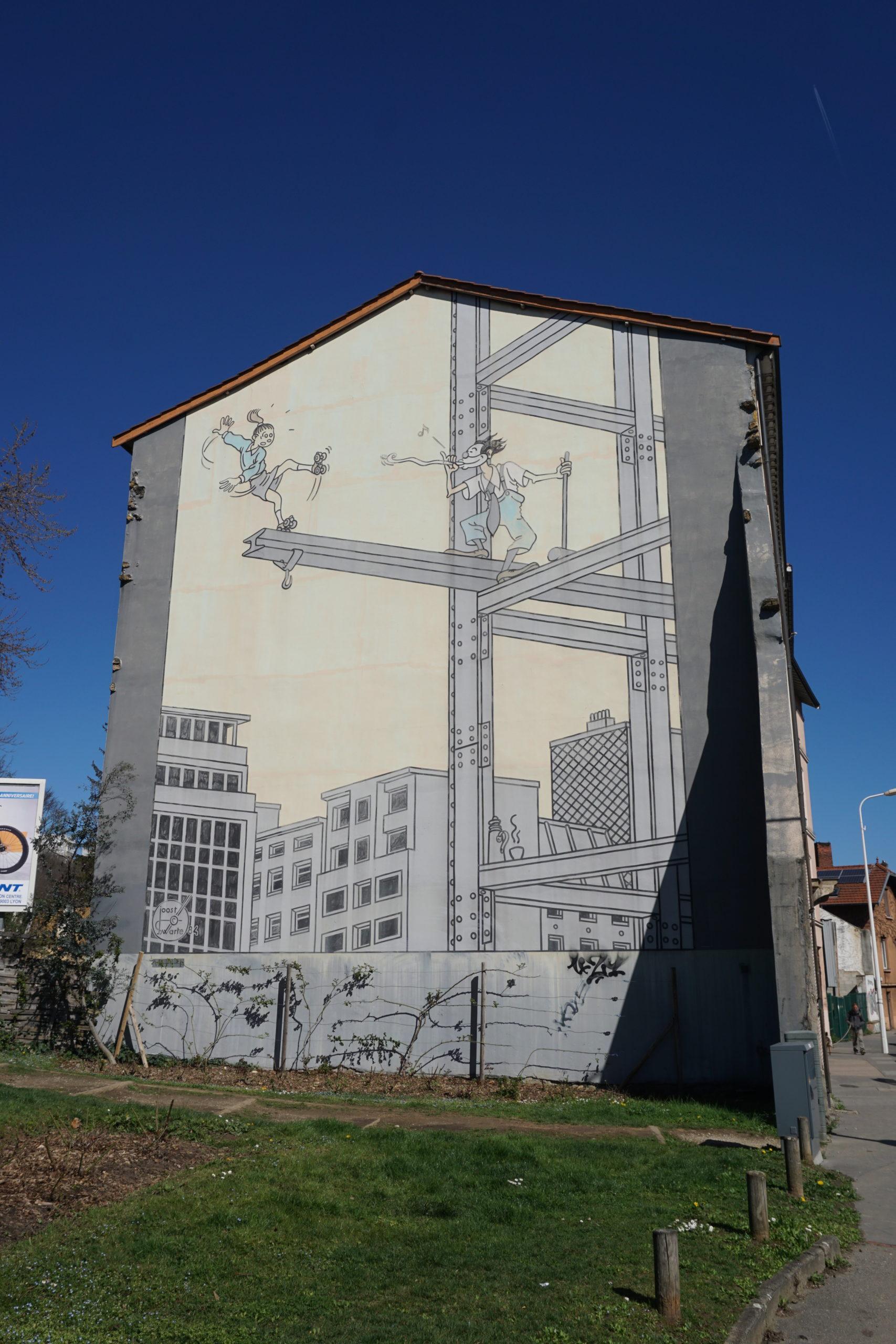 La poutrelle fresque murale Lyon 9