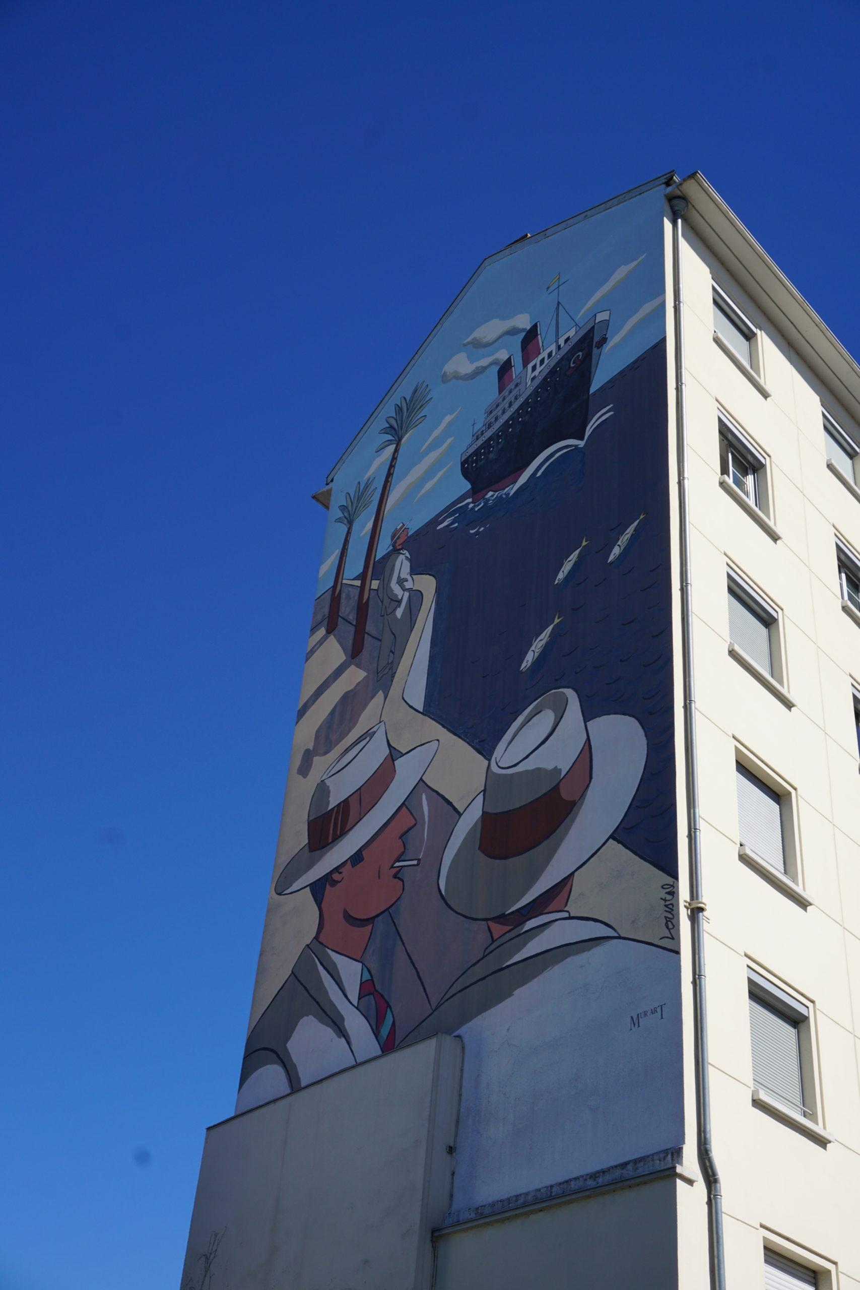 Le paquebot fresque murale Lyon 9